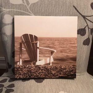 Relaxing print of the beach.